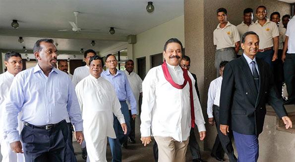 Sri Lanka President Maithripala Sirisena met Mahinda Rajapaksa