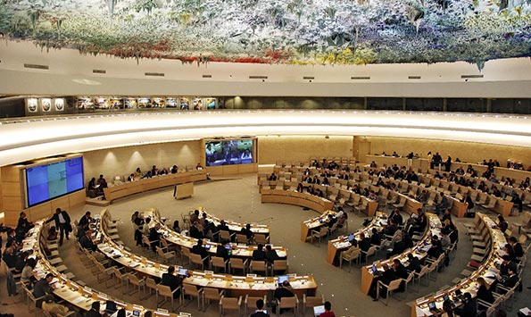 UN Human Rights Council session in geneva