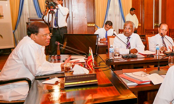 Sri Lanka President Maithripala Sirisena met the officials of the National Education Commission