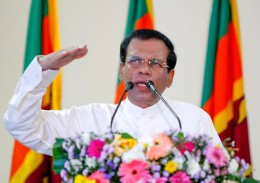 President Maithripala Sirisena at the ceremony