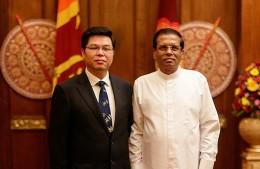 Ambassador Yi Xianliang with Sri Lanka President Maithripala Sirisena