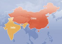 India China map