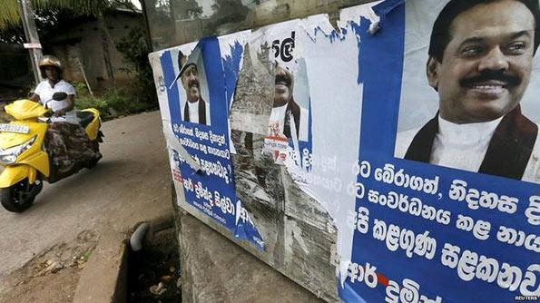 Mahinda Rajapaksa's posters