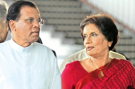 Maithripala with Chandrika