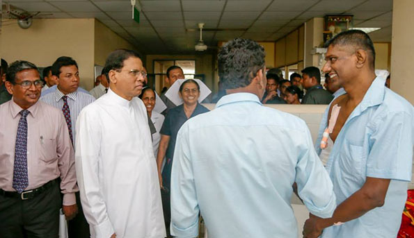 President Maithripala Sirisena at Maligawatta kidney hospital