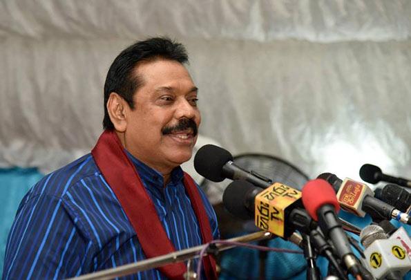 Former President Mahinda Rajapaksa