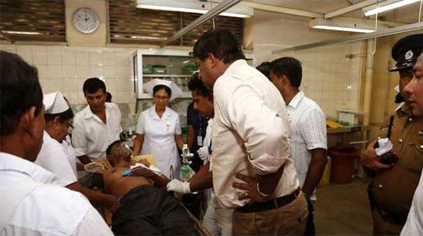 Ravi Karunanayake at Bloemendal Kotahena shooting incident