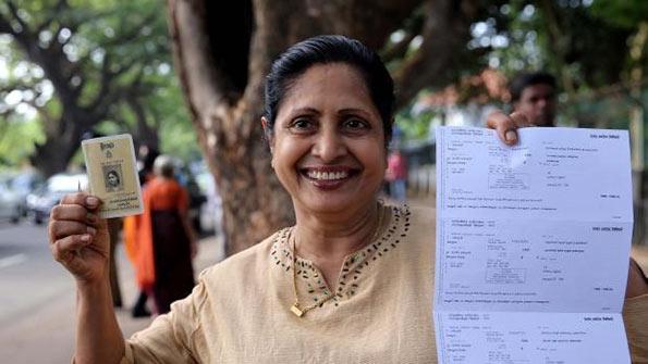 Sri Lankan voter