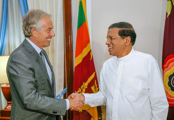 Tony Blair and Maithripala Sirisena