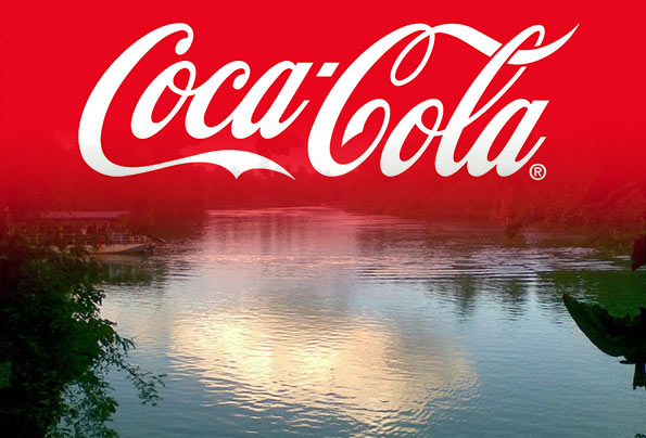 Coca cola and Kelani river