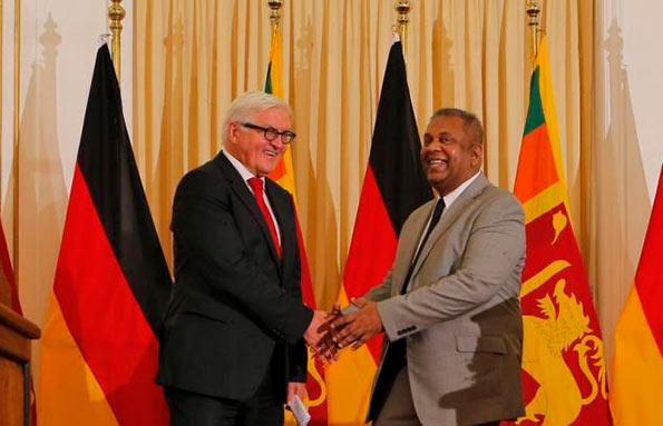 Frank Walter Steinmeier and Mangala Samaraweera