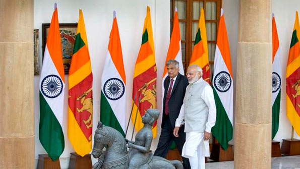 Ranil Wickremasinghe and Narendra Modi
