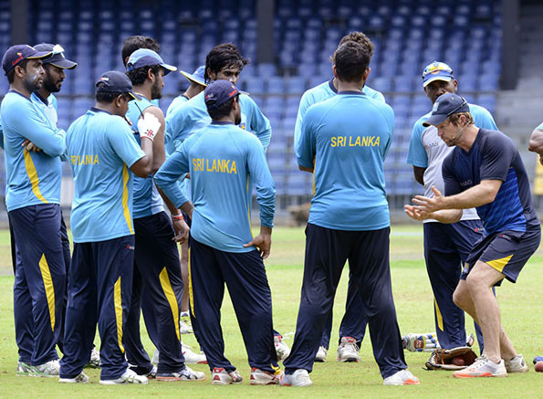 Sri Lanka Cricket training session