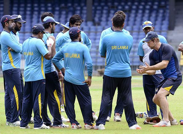 Sri Lanka Cricket training session