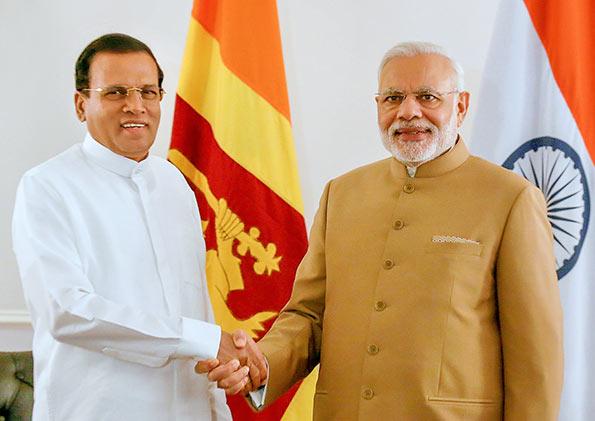 Sri Lanka President Maithripala Sirisena and Prime Minister Narendra Modi