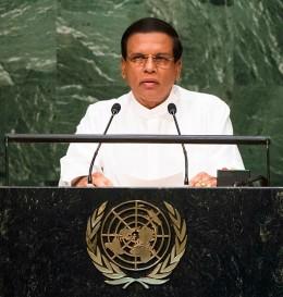 Sri Lanka President Maithripala Sirisena's speech at UNGA session