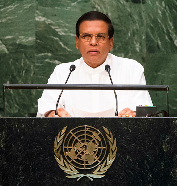 Sri Lanka President Maithripala Sirisena's speech at UNGA session