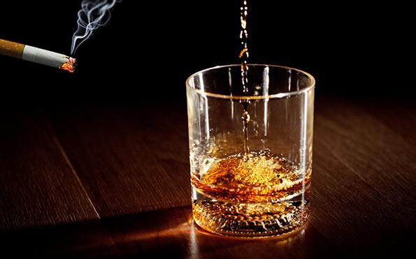 Cigarette and liquor