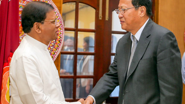 President Maithripala Sirisena met Zhang Baowen
