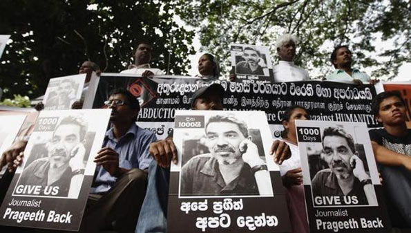 Protest on Prageeth Eknaligoda