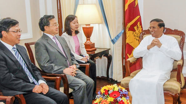Sri Lanka President Maithripala Sirisena met Chinese Vice Foreign Minister Liu Zhenmin