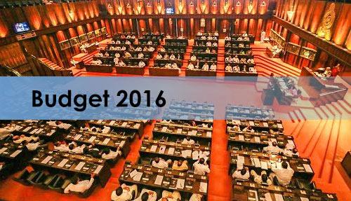 Budget 2016 - Sri Lanka