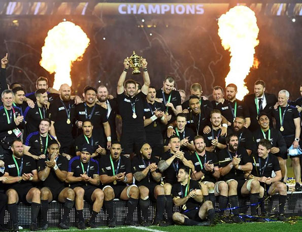 New Zealand rugby team at worldcup 2015