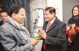 Sri Lanka President Maithripala Sirisena arrived in Paris