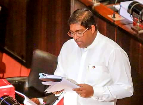 Ravi Karunanayake presents budget