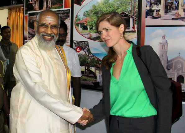 Samantha Power and C.V.Wigneswaran