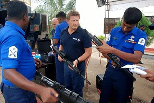 Avant garde with Sri Lanka Navy