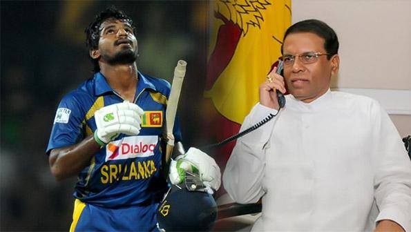 Sri Lanka President telephones Kusal Janith Perera