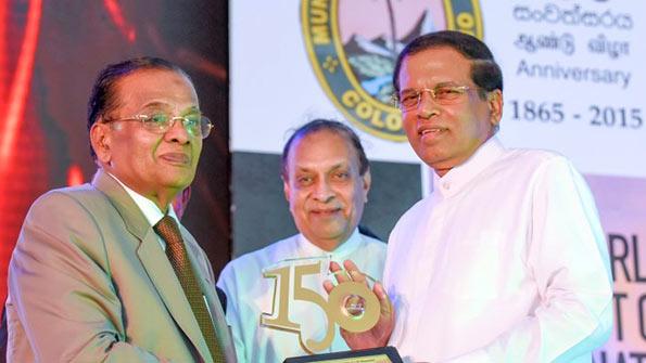President Maithripala Sirisena with AJM Muzammil