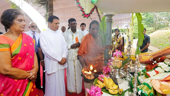 Chandrika with Maithripala
