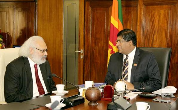 Ravi Karunanayaka with Dr. Subir Gokarn