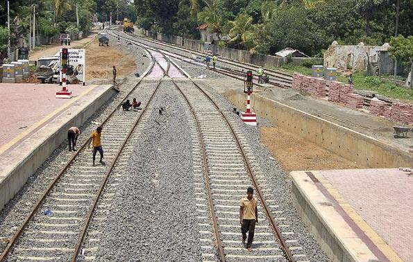 Sri Lanka railway tracks