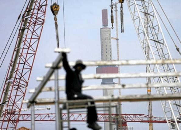 Lotus tower construction site in Sri Lanka
