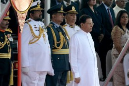 President Maithripala Sirisena at 68th Independence day in Sri Lanka