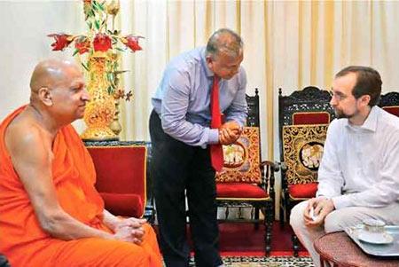 Zeid Ra'ad Al Hussein meets Mahanayaka Thero