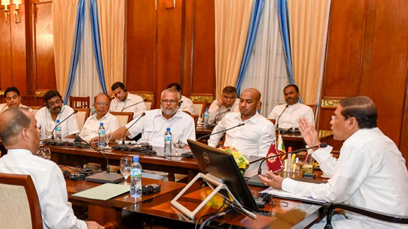 Sri Lanka cabinet meeting