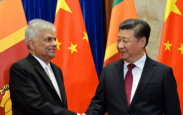 Xi Jinping with Ranil Wickremasinghe