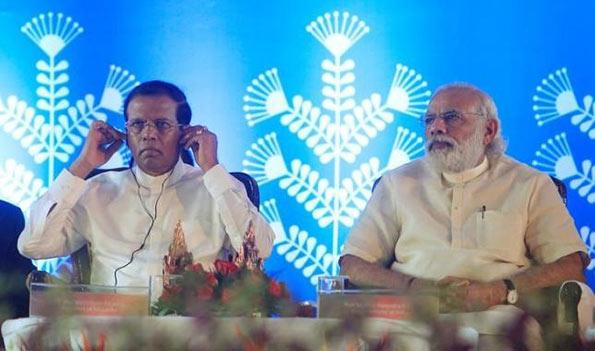 Maithripala Sirisena with Narendra Modi