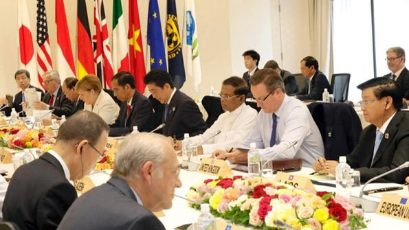 Sri Lanka President Maithripala Sirisena at G7 Summit