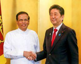 Shinzo Abe - Prime Minister of Japan and Maithripala Sirisena - President of Sri Lanka