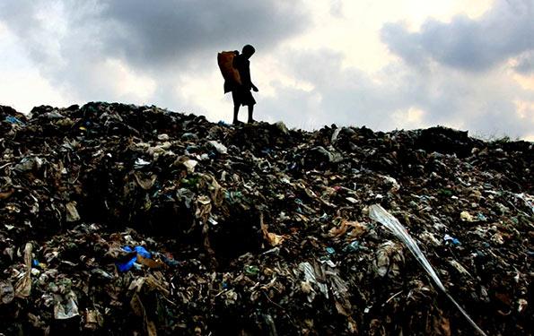 Garbage mountain