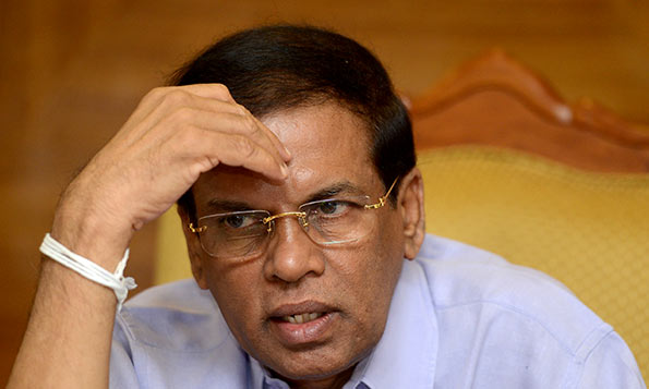 Maithripala Sirisena is under pressure