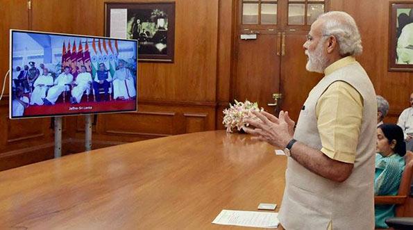 Narendra Modi - Prime Minister of India in a video conference