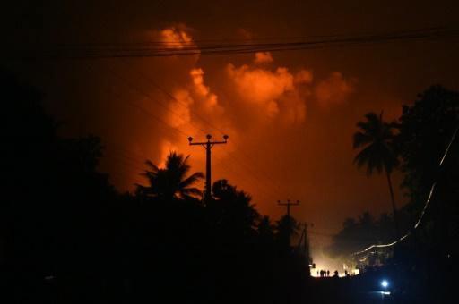 Salawa Army ammunition explosion in Sri Lanka