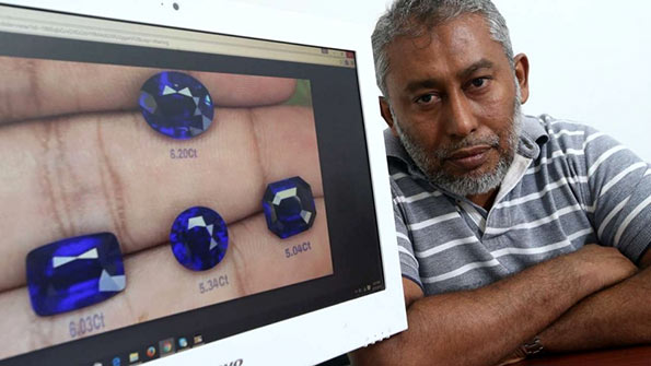 Sri Lankan gems dealer