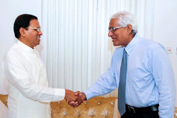 President Maithripala Sirisena with Dr. Indrajit Coomaraswamy